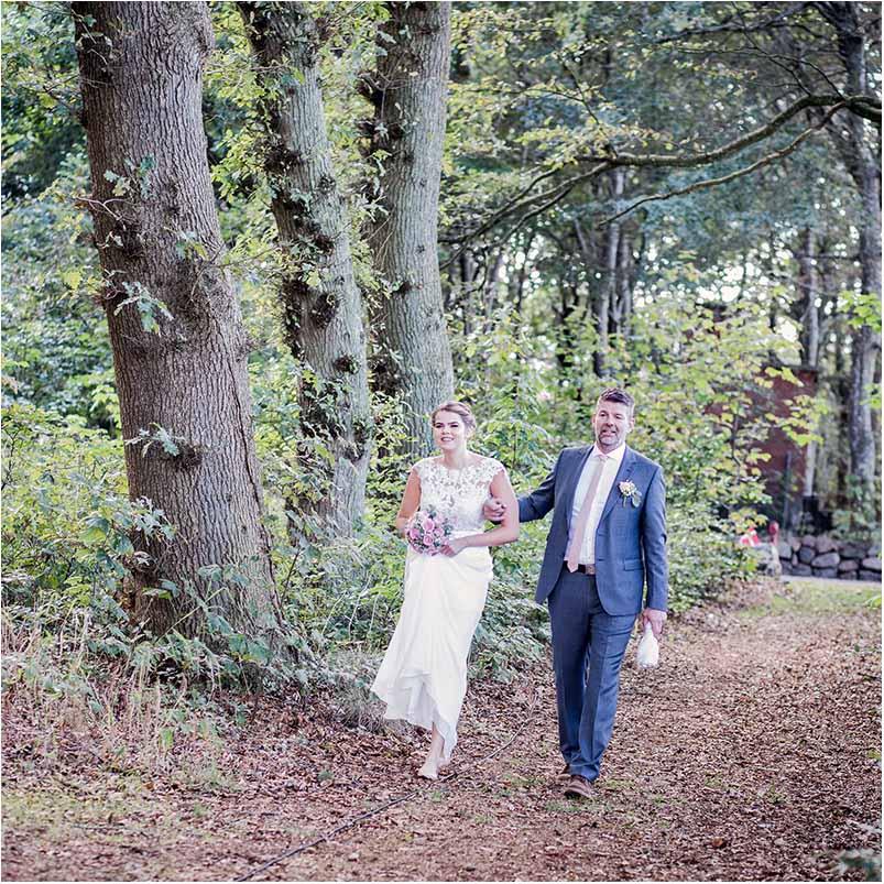 bryllup i skov på Fyn